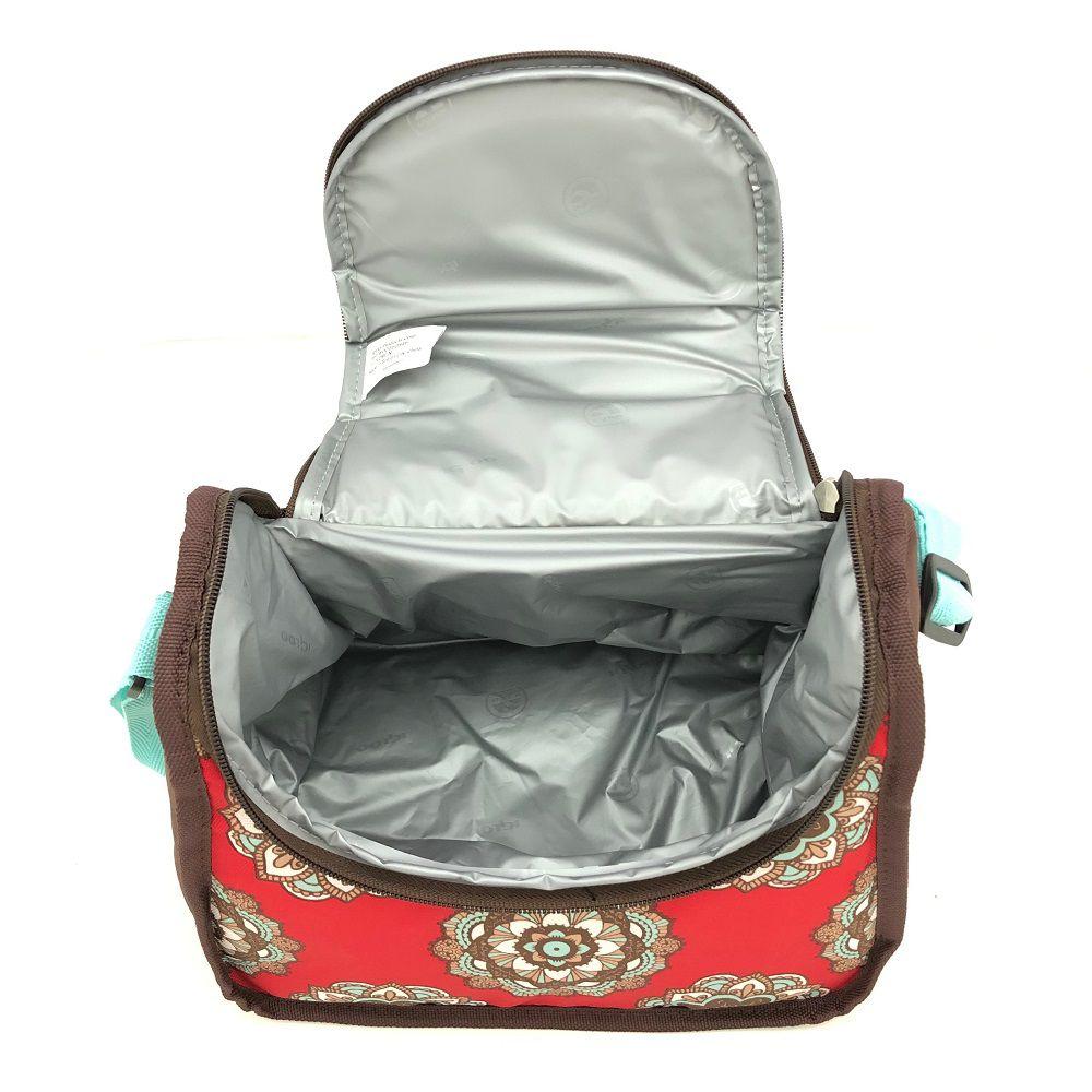 Bolsa Lancheira Térmica Igloo Cross Mandala Vermelha