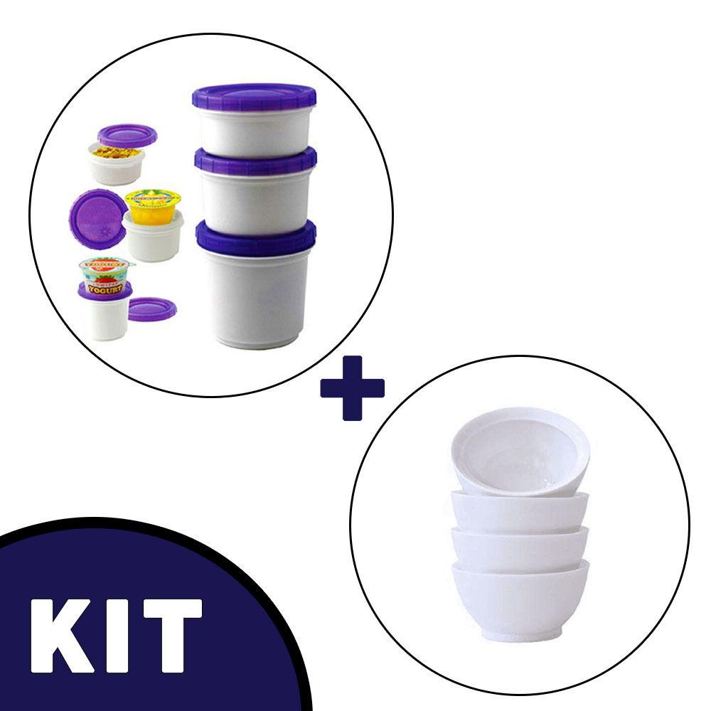Pote Iogurte + Cumbuca P/ Sopa Cremosa Policarbonato Sem BPA