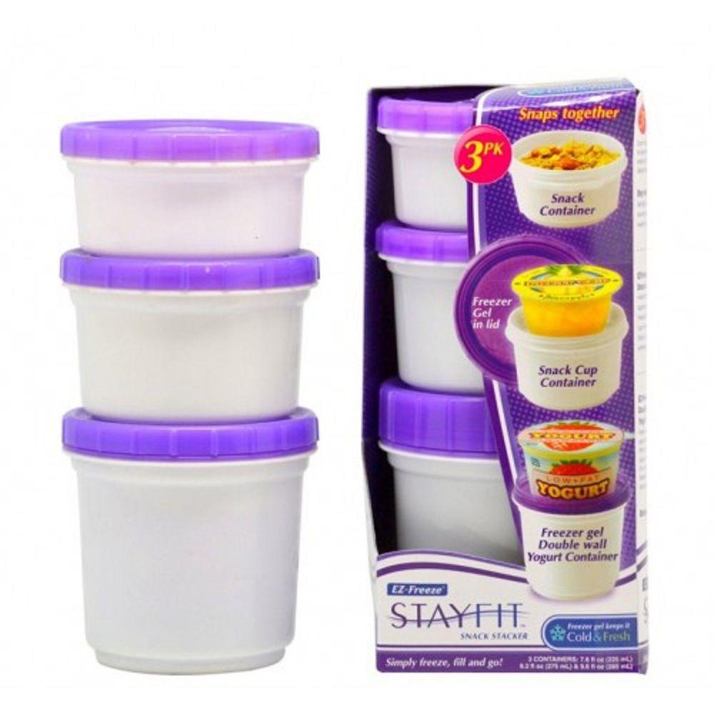 Pote Iogurte + Garrafa Infantil C/canudo E Tubo Gel CoolGear