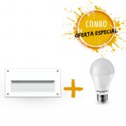 Combo 1 Luminária para balizamento com 1 Lâmpada LED A60 9,5W Bivolt luz branca