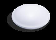 Luminária LED 18W de sobrepor 127V luz branca redonda com sensor de presença e luz de emergência