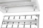 Luminária de embutir T5 para 2 lâmpadas tubulares de 14W