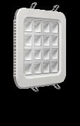 Luminária LED de embutir quadrada 16W bivolt luz branca com difusor de vidro quadrado