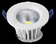 Luminária LED SPOT COB embutir 25W Bivolt redonda