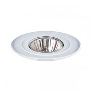 Luminária spot redonda Ø104 em alumínio branco para lâmpadas dicroicas