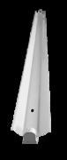 Luminária tipo calha para 1 lâmpada tubular de LED tubular T8 de 20W