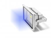 Refletor LED 50W Bivolt Luz Azul
