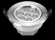 Spot led embutir redondo 7W bivolt luz amarela 2.700k em alumínio metalizado