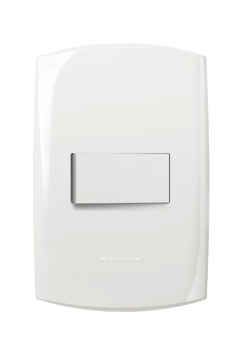 1 Interruptor Simples Com Placa 4X2 Branca Horizontal 10A 250V~ Blisspro