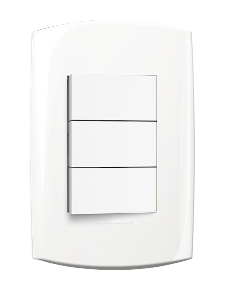 2 Interruptor Simples 1Paralelo Com Placa 4X2 Branca 10A 250V~ Blisspro