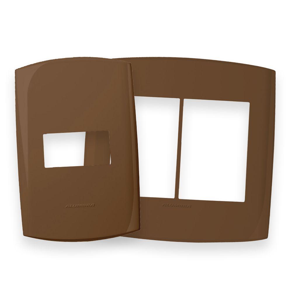 Placas 4x2 e 4x4 cor Chocolate ao Leite linha BLISS