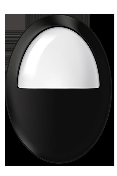 Plafon LED de sobrepor 6W luz branca cor preto uso em ambiente externo