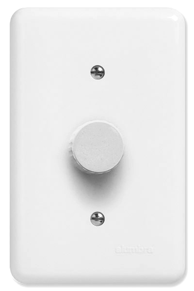 DIMMER ROT. 4A 220V 1000W C/PL 4X2 BR BARI