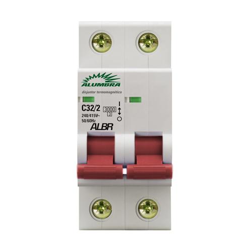 Disjuntor bipolar C10/2 Alumbra - kit com 2 peças