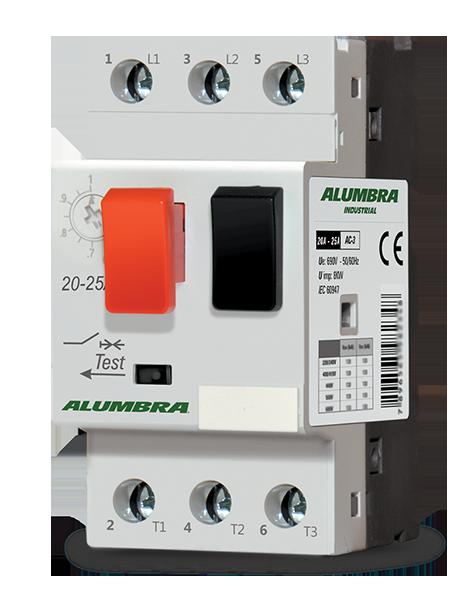 Disjuntor motor termomagnético ajustável 2,5A até 4A