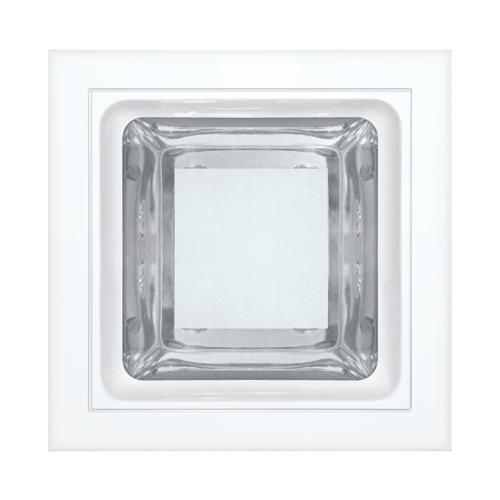 Luminária embutir quadrada 145x145 com vidro semi fosco - Kit com 3 Peças