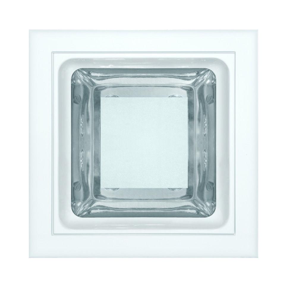 Luminária embutir quadrada 145x145 com vidro semi fosco