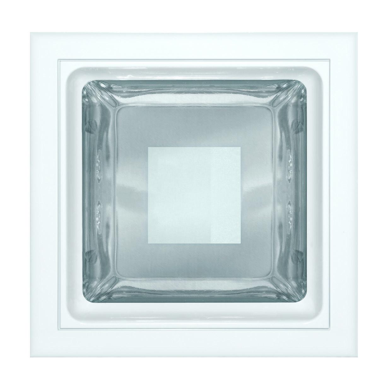Luminária embutir quadrada 175x175 vidros semi fosco