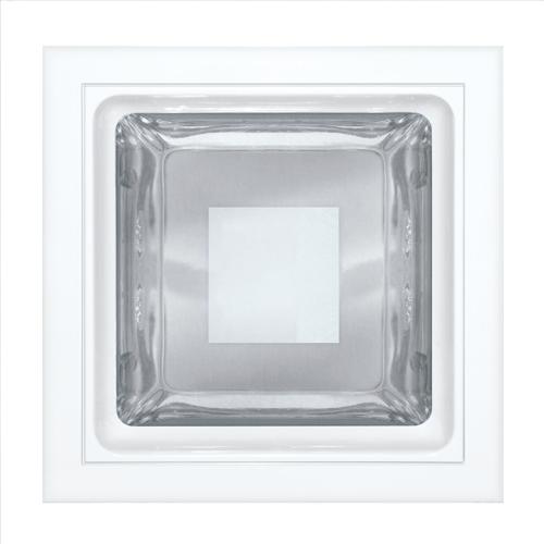 Luminária embutir quadrada 175x175 vidros semi fosco - Kit com 3 Peças