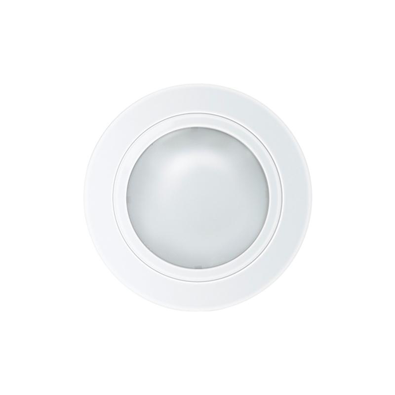 Luminária embutir redonda Ø160mm tampa com vidro fosco - Kit com 5 Peças