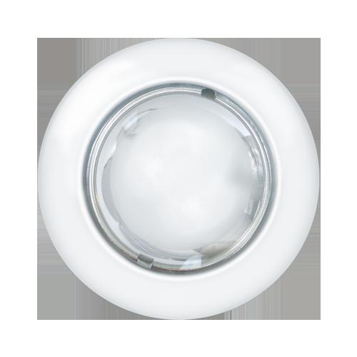 Luminária embutir redonda Ø160mm tampa com vidro semi fosco - Kit com 5 Peças