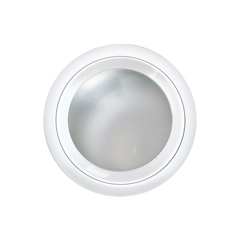 Luminária embutir redonda Ø215mm tampa com vidro quadriculado - Kit com 5 Peças