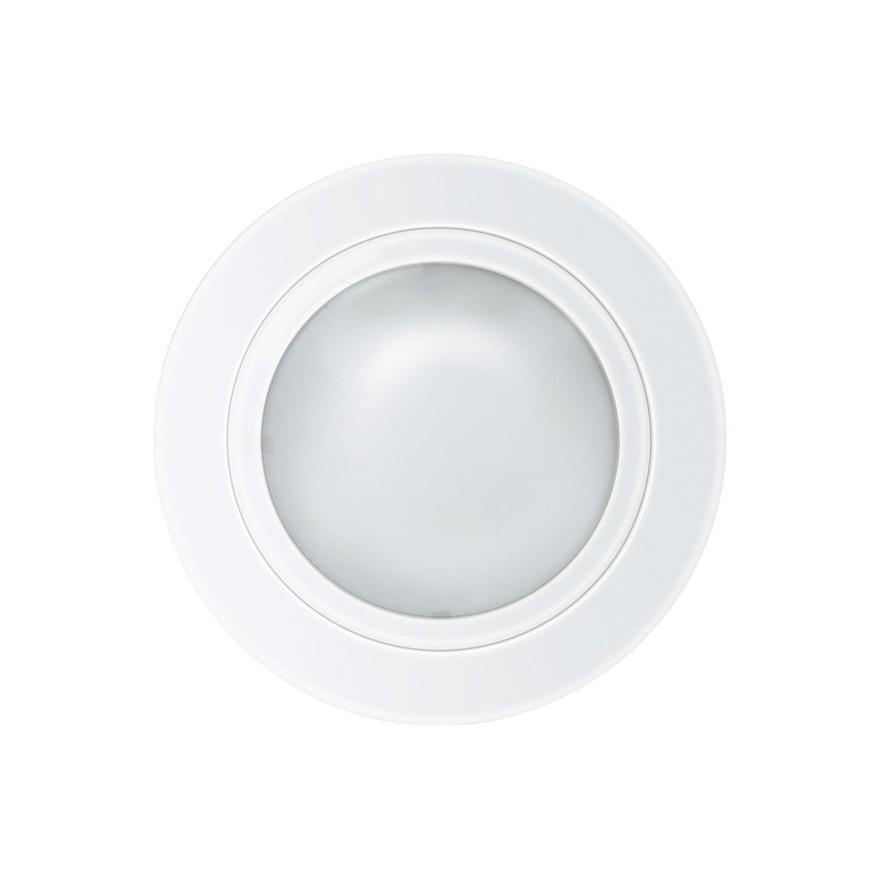 Luminária embutir redonda Ø160mm tampa com vidro fosco