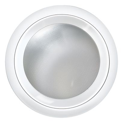 Luminária embutir redonda Ø215mm tampa com vidro quadriculado