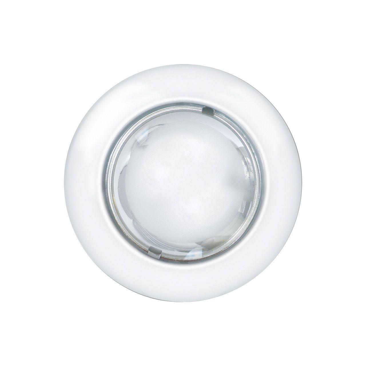 Luminária embutir redonda Ø160mm tampa com vidro semi fosco