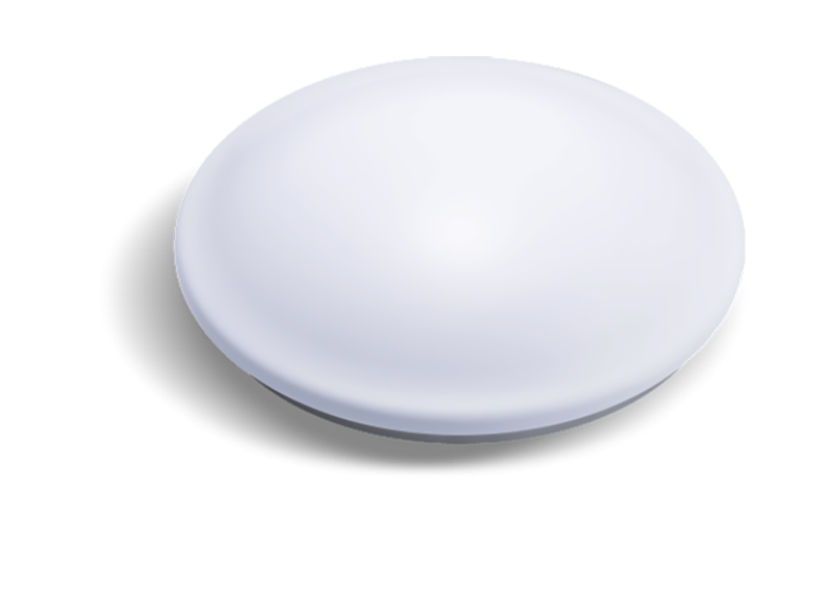 Luminária LED 18W de sobrepor 220V luz branca redonda com sensor de presença e luz de emergência