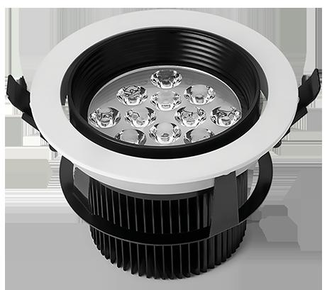 Luminária LED com difusor orbital 18W Bivolt redonda