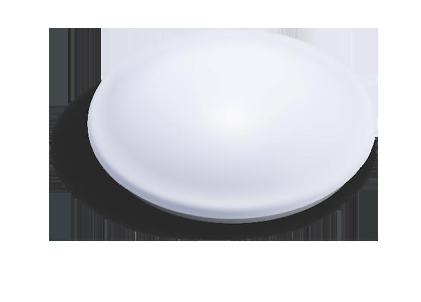 Luminária LED 14W de sobrepor 220V luz branca redonda com sensor de presença