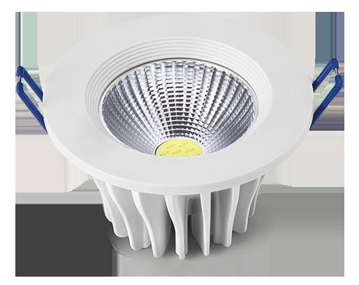 Luminária LED SPOT COB embutir 10W Bivolt redonda