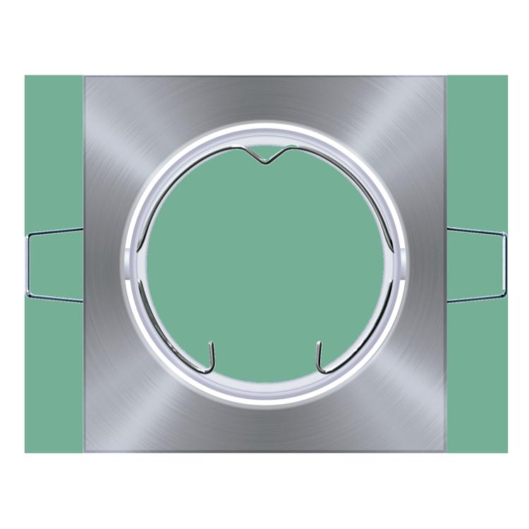 Luminária Spor quadrada em alumínio metalizado