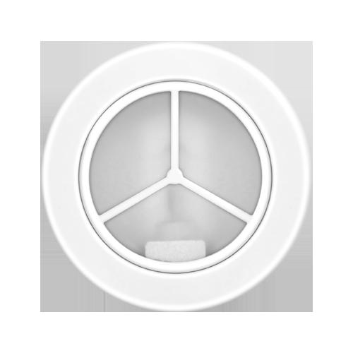 Luminária Spot redonda Ø102mm com vidro fosco em alumínio branco - Kit com 10 Peças