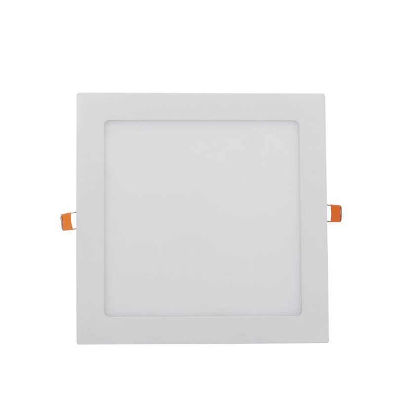 PAINEL LED EMBUTIR - 220x220x20 - 18W - 3.000K luz amarela Bivolt