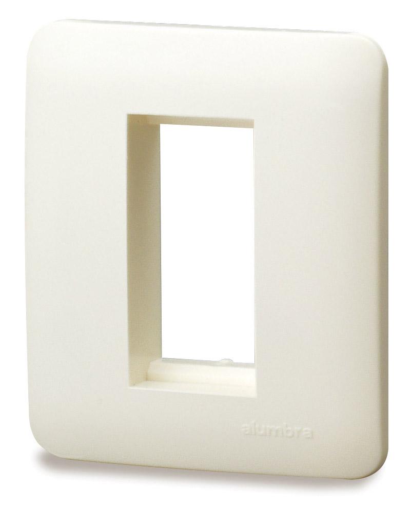 Placa De 1 Módulo Para Caixa De Sobrepor - Branco - Alumbra - Linha A