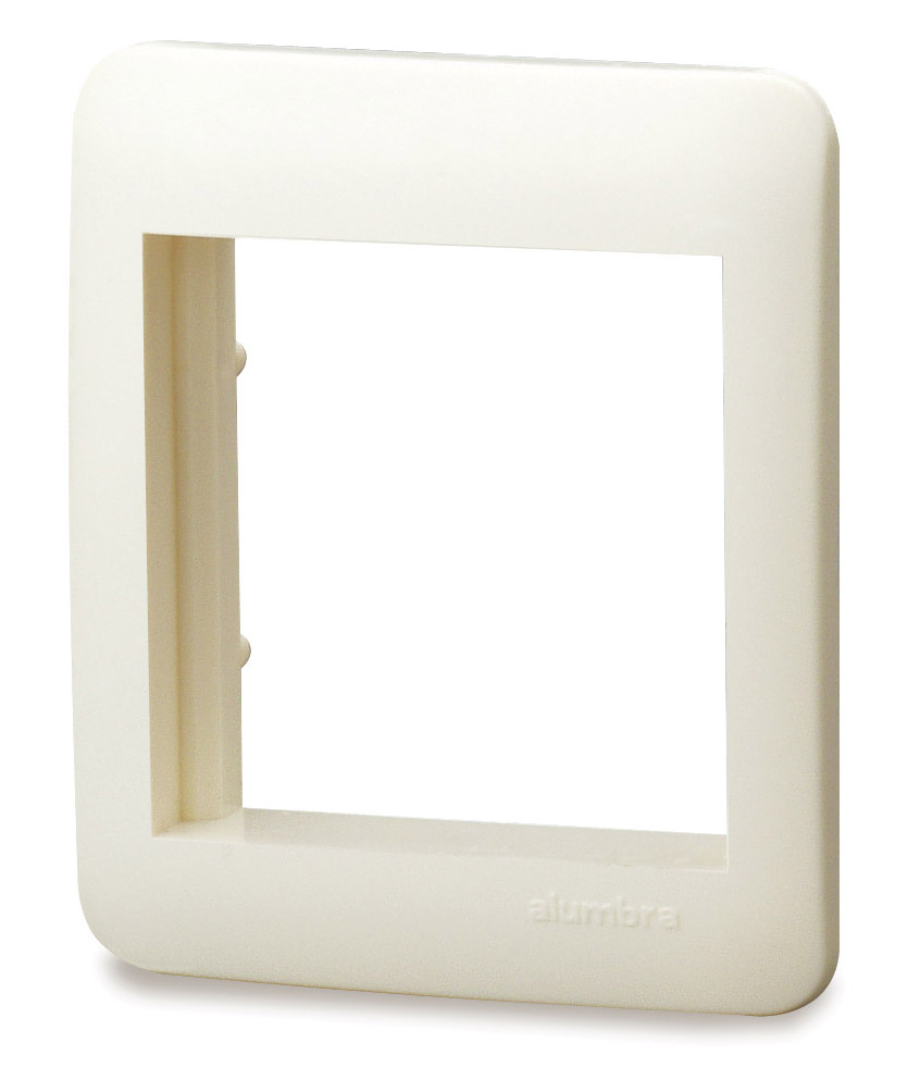 Placa De 2 Módulos Para Caixa De Sobrepor - Branco - Alumbra - Linha A