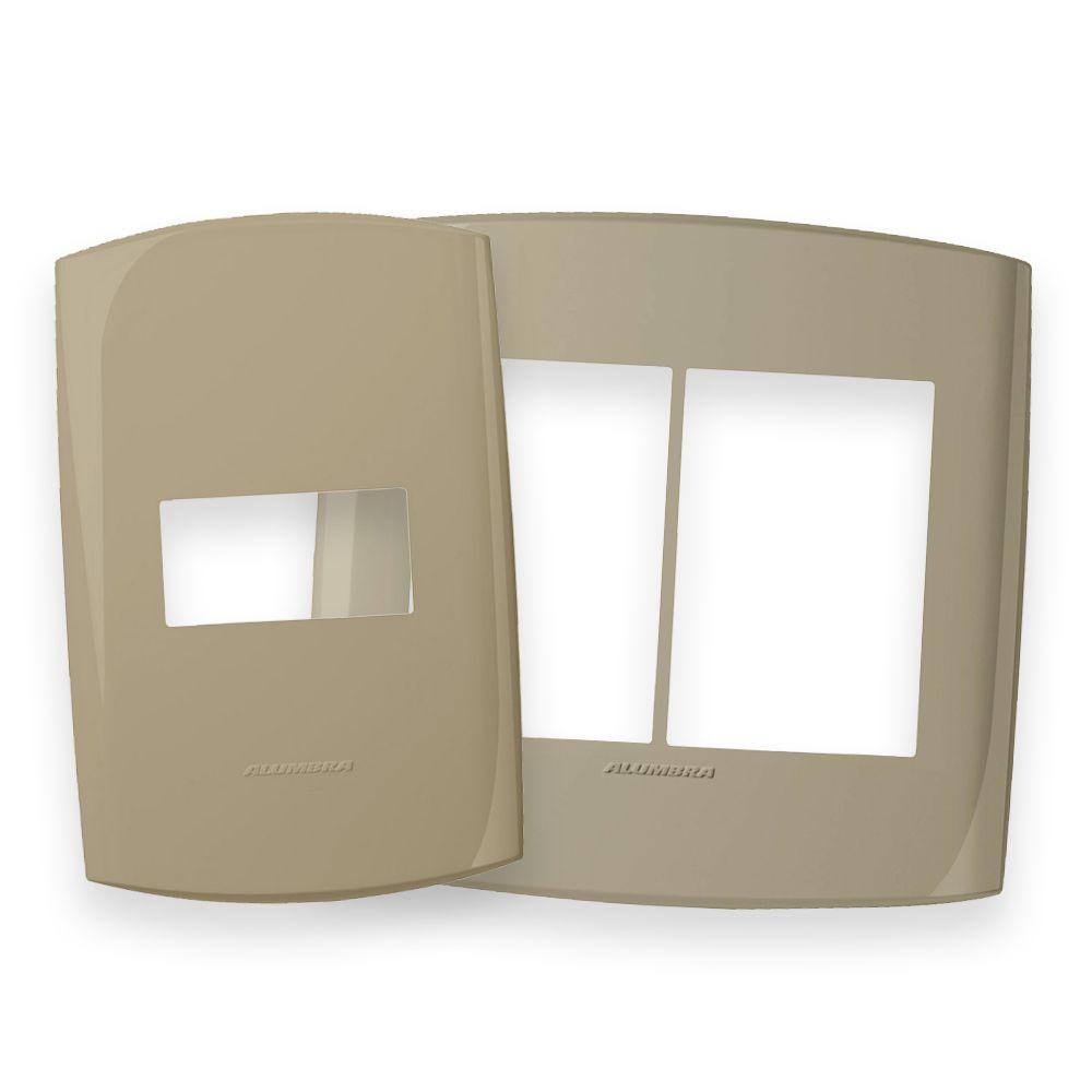 Placas 4x2 e 4x4 cor Amaranto seco linha BLISS