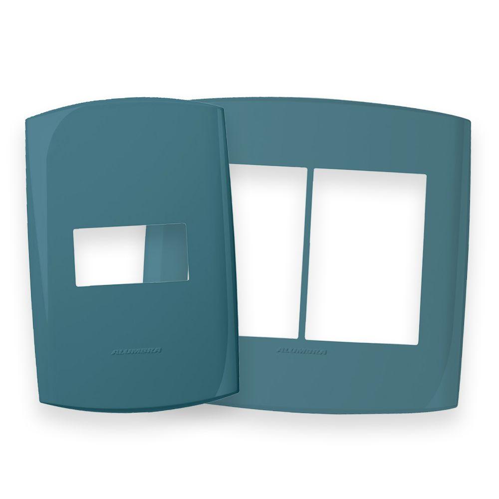 Placas 4x2 e 4x4 cor Azul Cadete linha BLISS