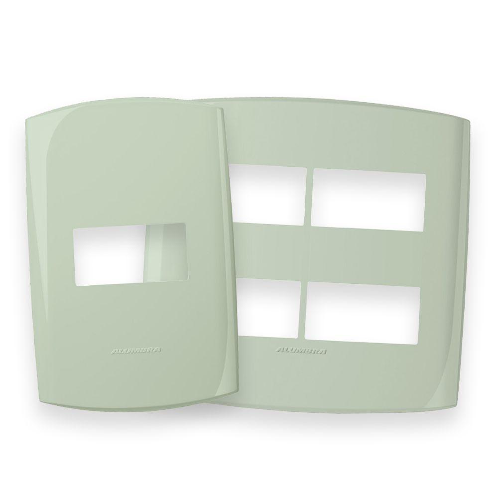 Placas 4x2 e 4x4 cor Cheiro Verde linha BLISS