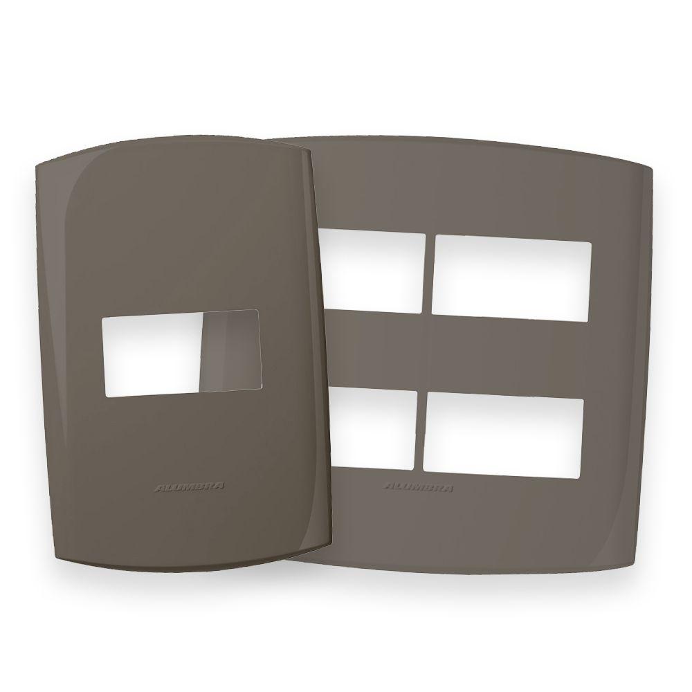 Placas 4x2 e 4x4 cor Cinza Noturno linha BLISS