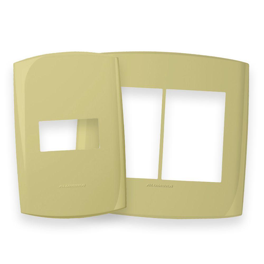 Placas 4x2 e 4x4 cor Kiwi Dourado linha BLISS