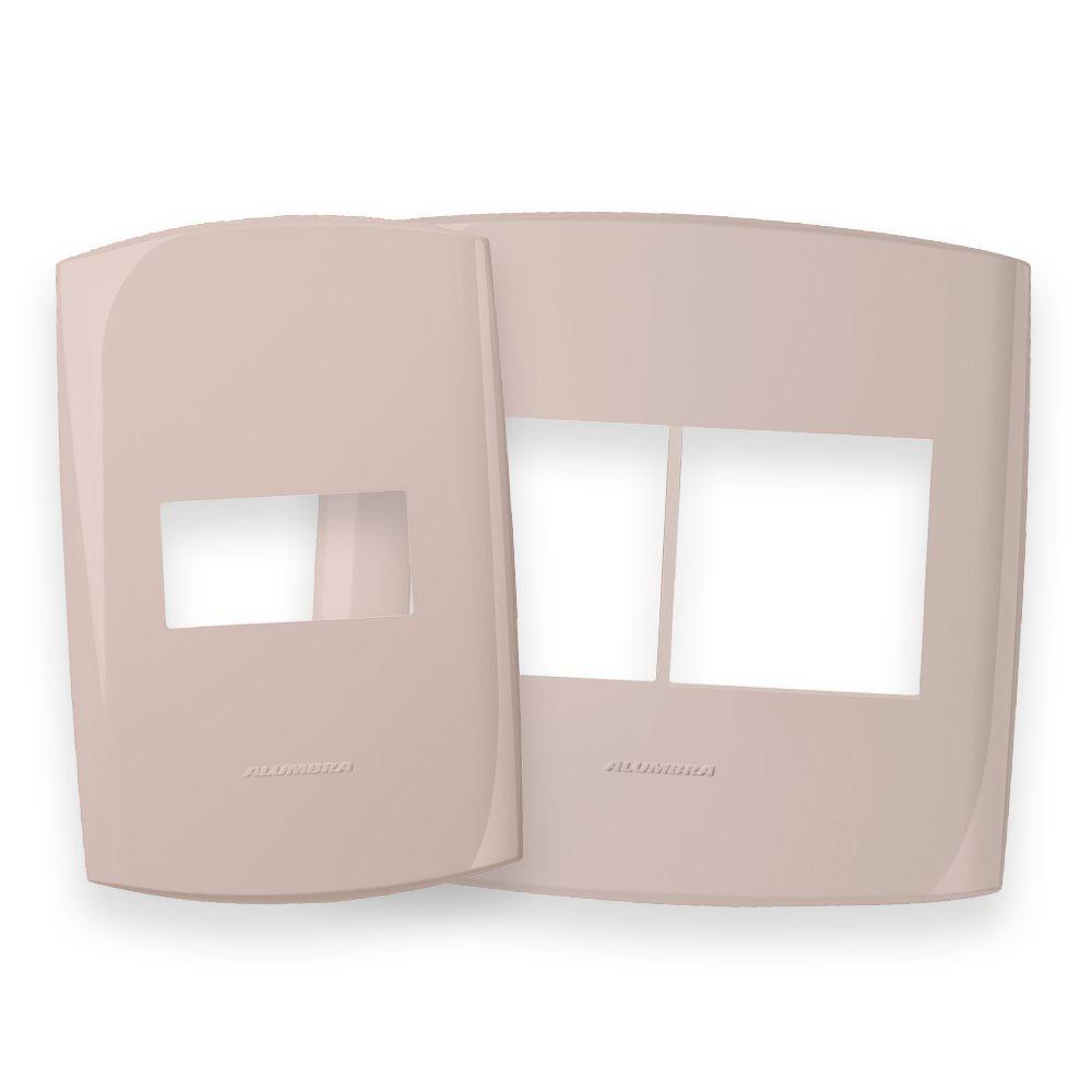 Placas 4x2 e 4x4 cor Pêssego Rosado linha BLISS