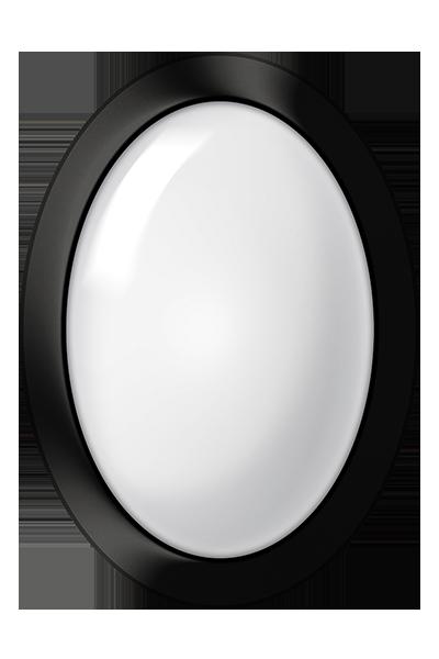 Plafon LED de sobrepor 10W luz branca cor preto uso em ambiente interno e externo