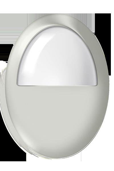 Plafon LED de sobrepor 6W luz branca cor marfim uso em ambiente externo