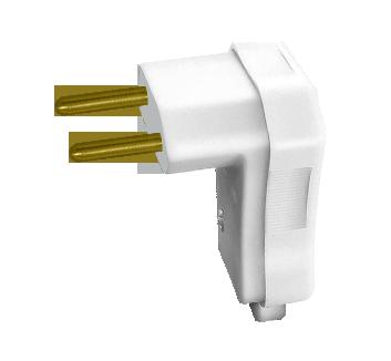 Plugue Macho 2P 10A com prensa cabos