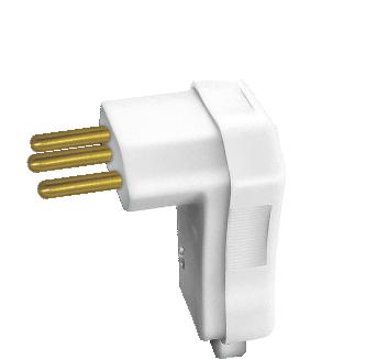 Plugue Macho 2P+T 10A com prensa cabos