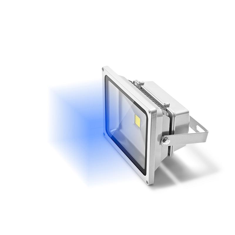 Refletor LED 30W Bivolt Luz Azul  - kit com 2 peças
