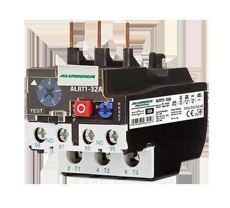 Relê Térmico de proteção ALTR3 - Corrente nominal  de 32A até 93A